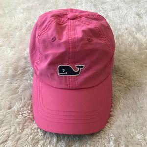 Vineyard Vines Pink Baseball Cap Navy Whale